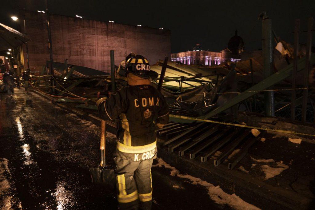 Arqueología: una tormenta destruye el techo de un edificio en el Templo Mayor de los Aztecas