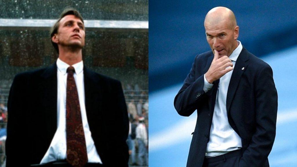 Zidane y Cruyff, estrellas como jugadores con leyendas en los banquillos