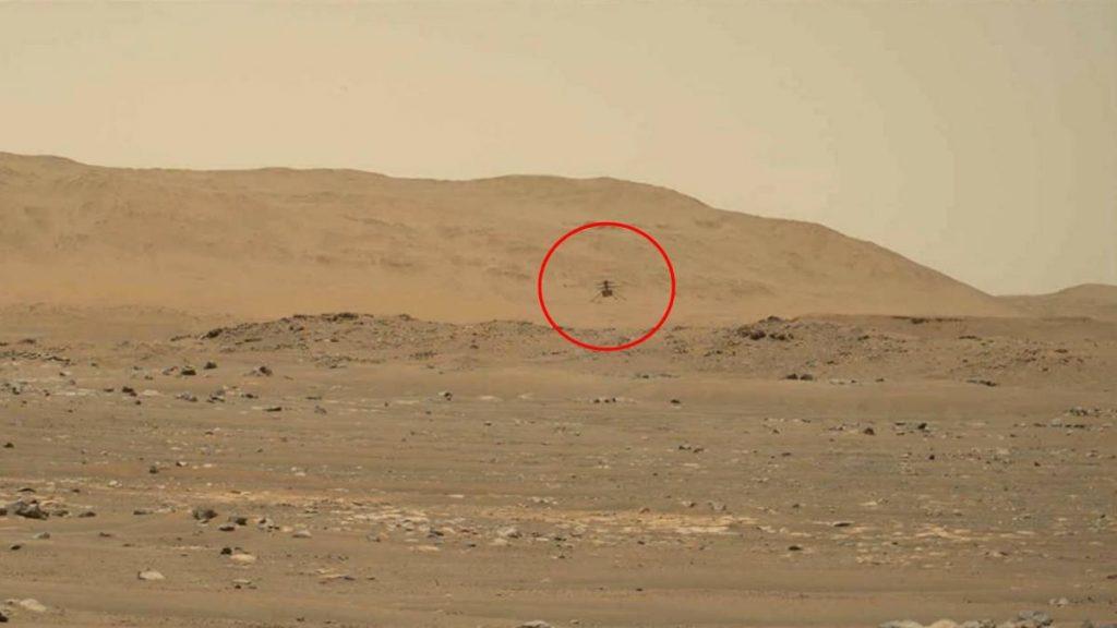 Así suena el helicóptero Ingenuity cuando sobrevuela Marte