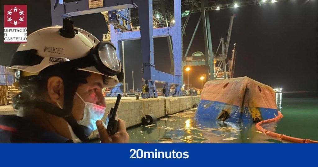 Dos robots submarinos buscan la desaparición del barco volcado en el puerto de Castellón