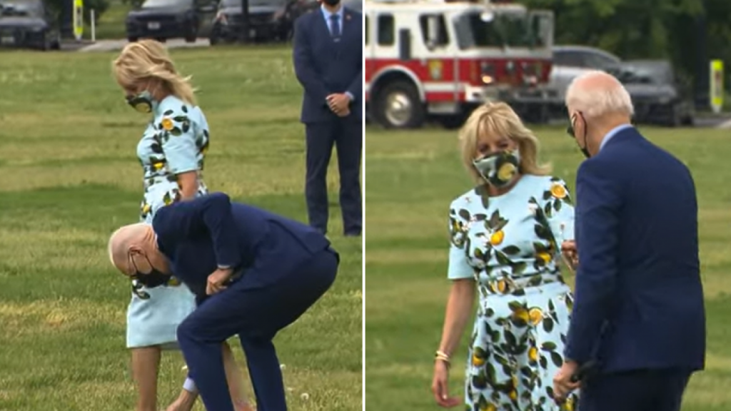 El gesto romántico de Joe Biden con su esposa antes de abordar su avión