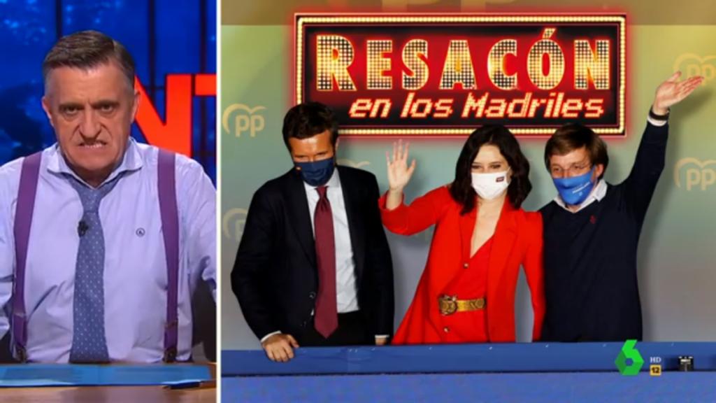 'El intermedio' resume en menos de dos minutos lo ocurrido en la noche electoral de la Comunidad de Madrid