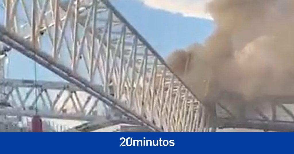 Estalla un incendio en las obras del Santiago Bernabéu