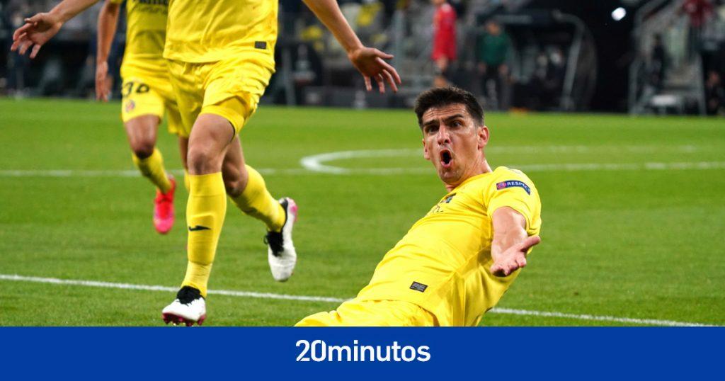 Gerard Moreno cumple su promesa con David Broncano en la celebración de la final de la Europa League 1-0