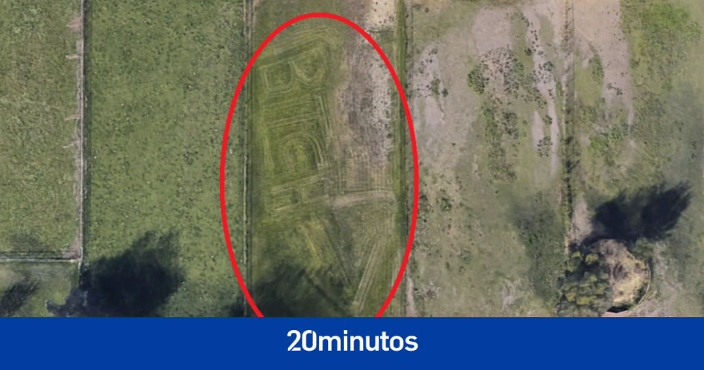 Google Maps revela un grave insulto de vecino a vecino ... marcado en el césped
