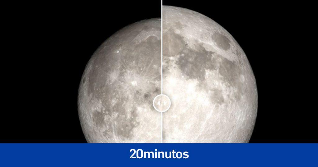 La NASA compara la diferencia de tamaño entre una luna llena y una superluna en una foto