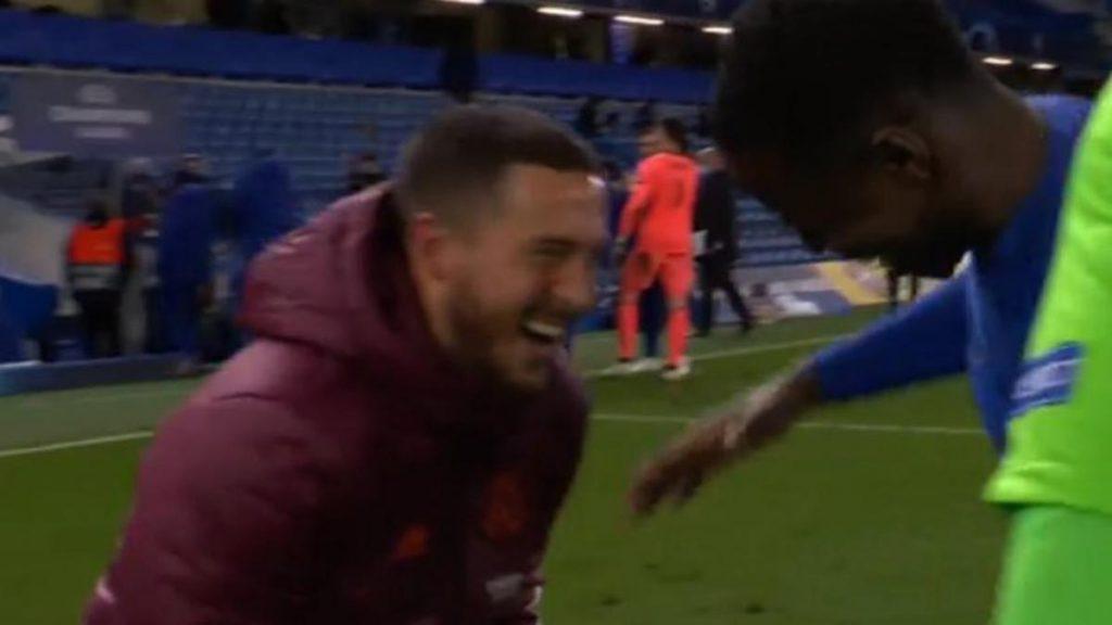 La risa de Hazard con sus excompañeros del Chelsea escandaliza al Real Madrid