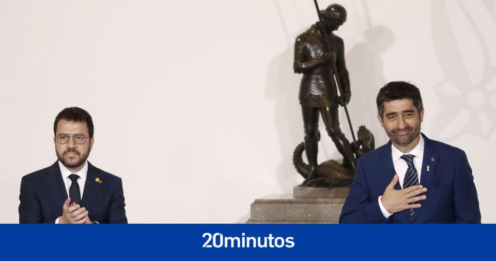 """Los consellers del nuevo gobierno toman posesión con la Orden de Aragonès para luchar por la """"libertad"""" de los presos y Cataluña"""