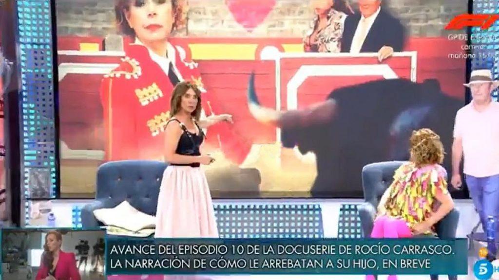 María Patiño tiene miedo porque cree que su decoración está en llamas ... y era una foto