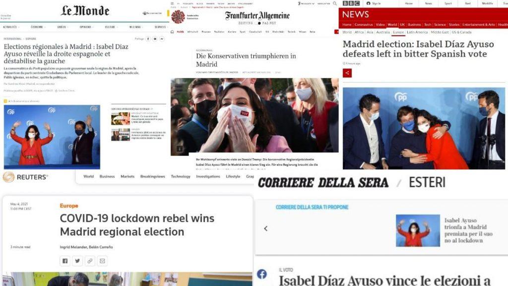 """""""Reina de Madrid"""", """"flagelo contra la izquierda"""" ... así reaccionó la prensa internacional ante el triunfo rotundo de Ayuso"""