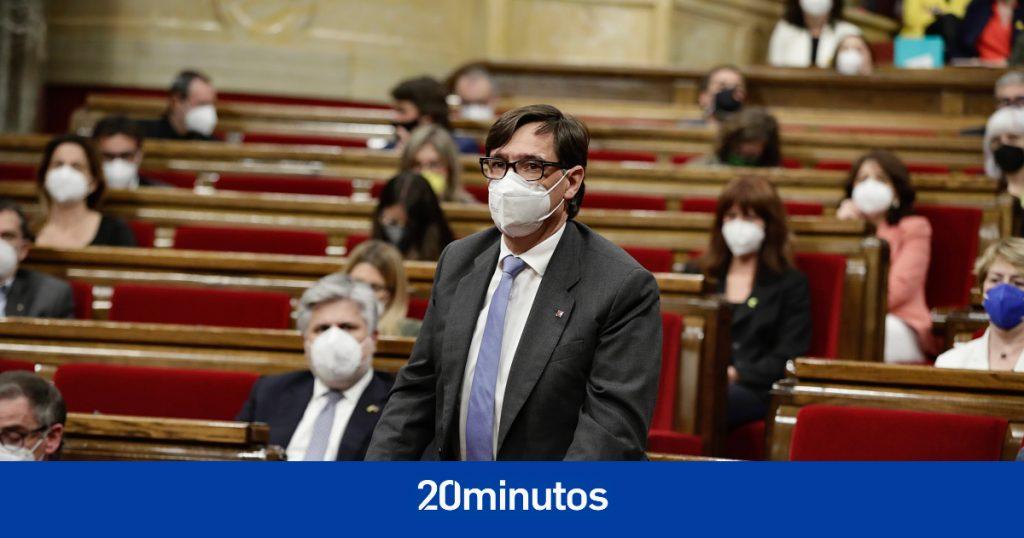 Salvador Illa, líder de la oposición en el Parlamento de Cataluña con despacho propio y dos consejeros