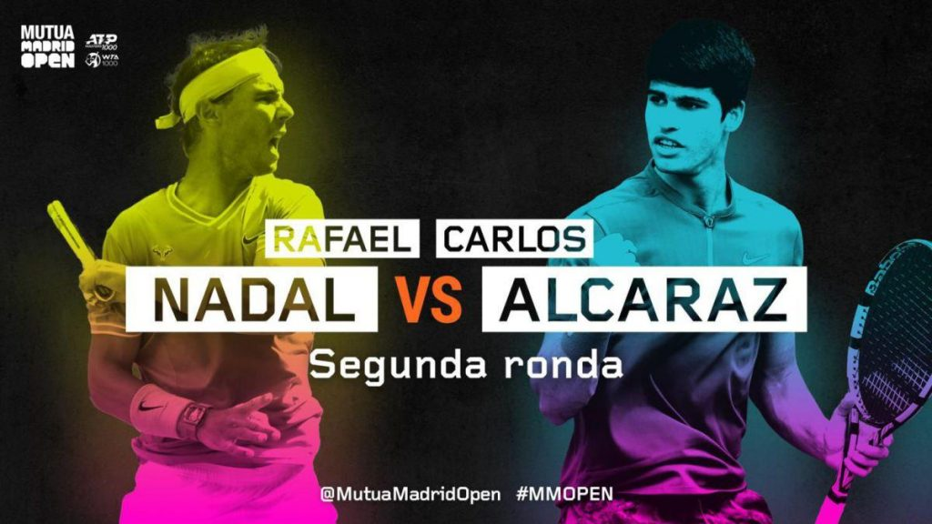 Sigue a Rafa Nadal vs.Carlos Alcaraz desde el Madrid Open en directo