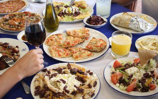 Platos especiales de Athens Pizza