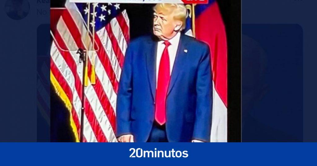 ¿Donald Trump estaba usando sus pantalones al revés?  ¿Fue un pañal?  Las redes se burlan del expresidente de Estados Unidos