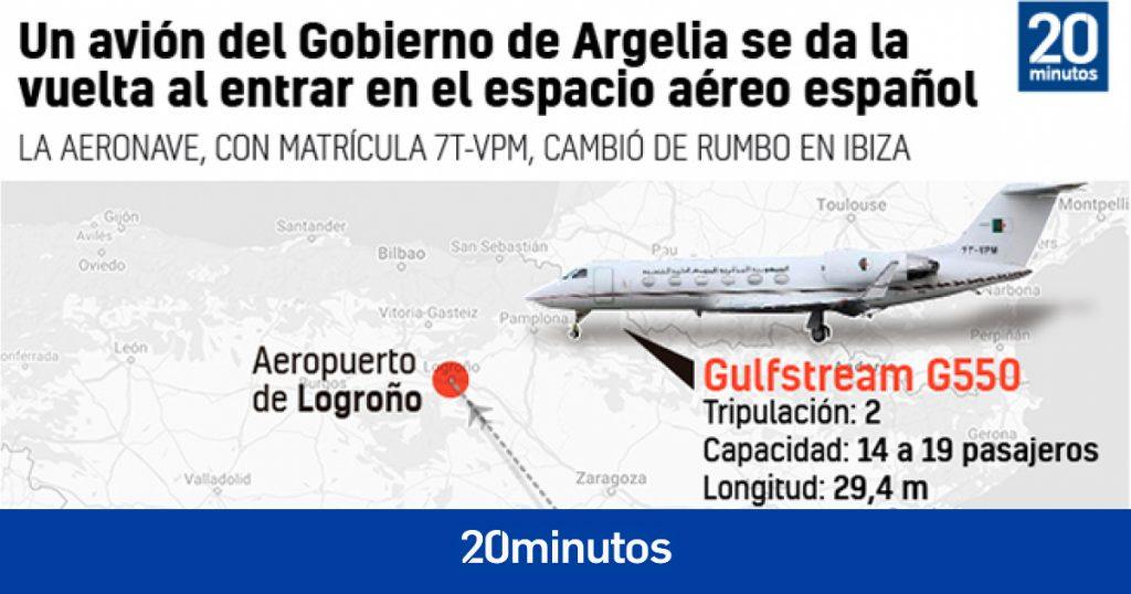 Argelia envía infructuosamente un avión militar por segunda vez para repatriar a Ghali y España lo obliga a dar la vuelta