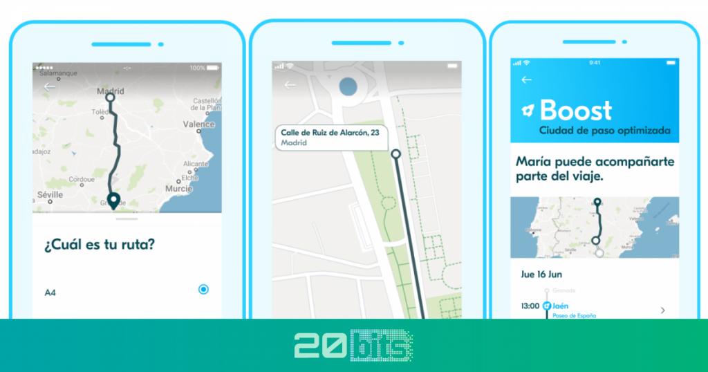 BlaBlaCar lanza una función que permite recoger a los pasajeros en tiempo real durante el viaje