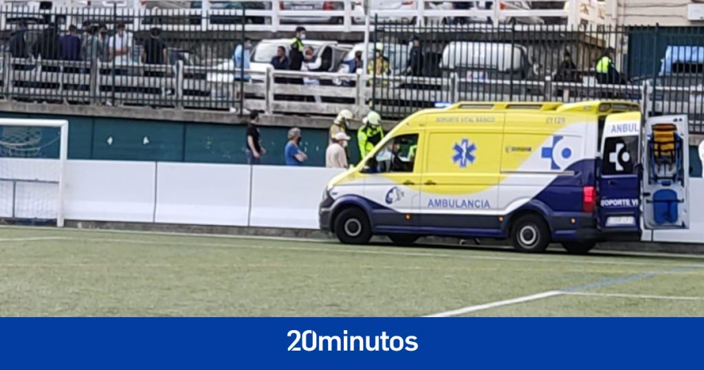 Cuatro heridos al caer una valla en un campo de fútbol de Gipuzkoa