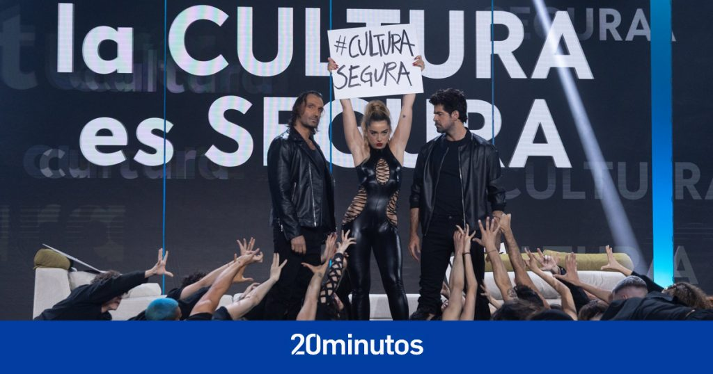 """""""La cultura es segura"""" o la actuación más exigente de Rafa Méndez, Lola Indigo y Miguel Ángel Muñoz"""