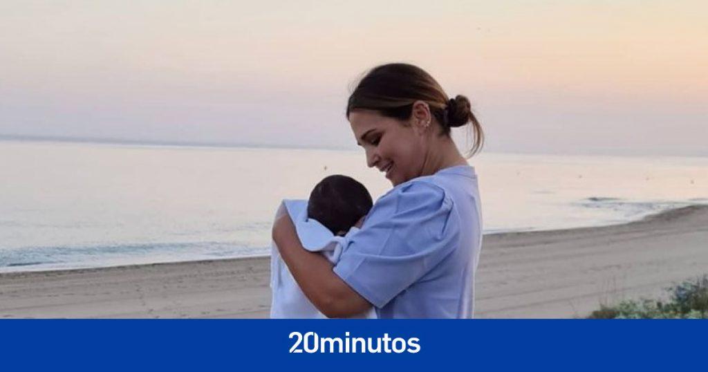 Paula Echevarría comparte la primera vez que su hijo Miki estuvo en la playa