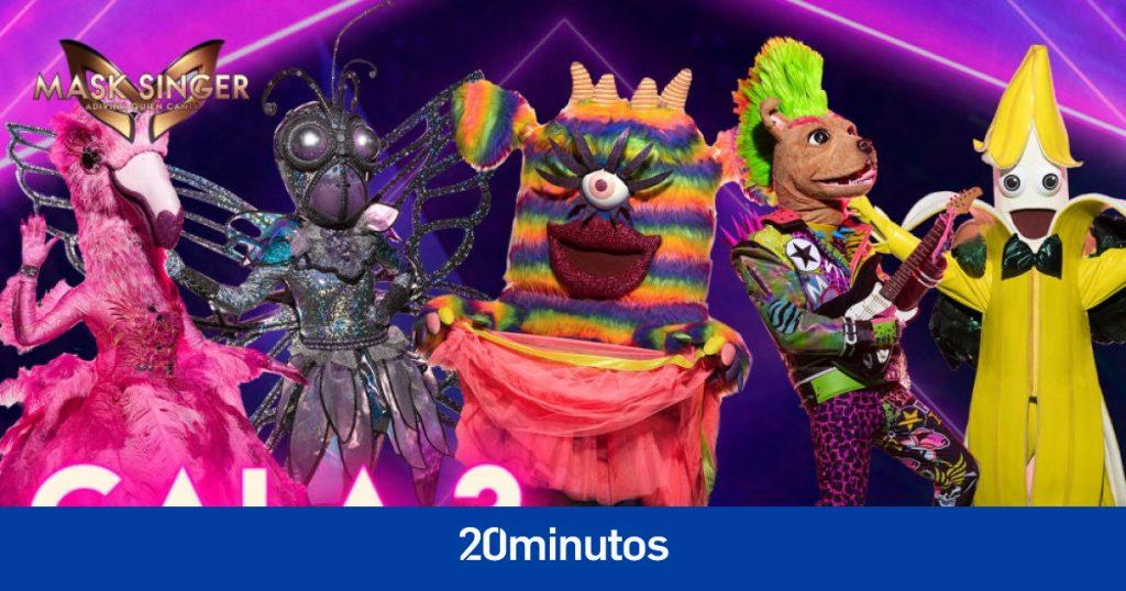 Se acerca la tercera gala de 'Mask Singer', con Monstruo, Perro, Mariposa, Plátano y Flamenco