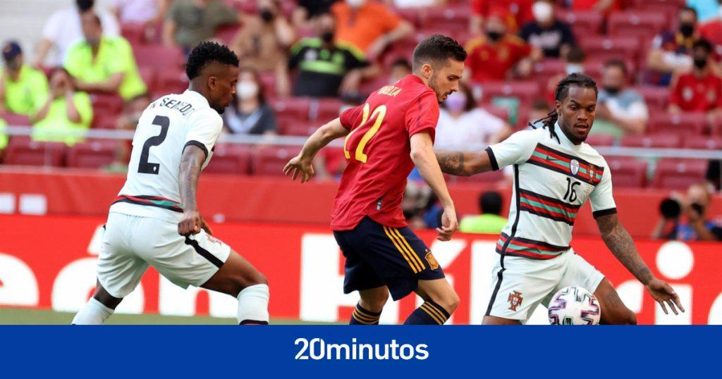 Sigue el partido amistoso España vs.  Portugal