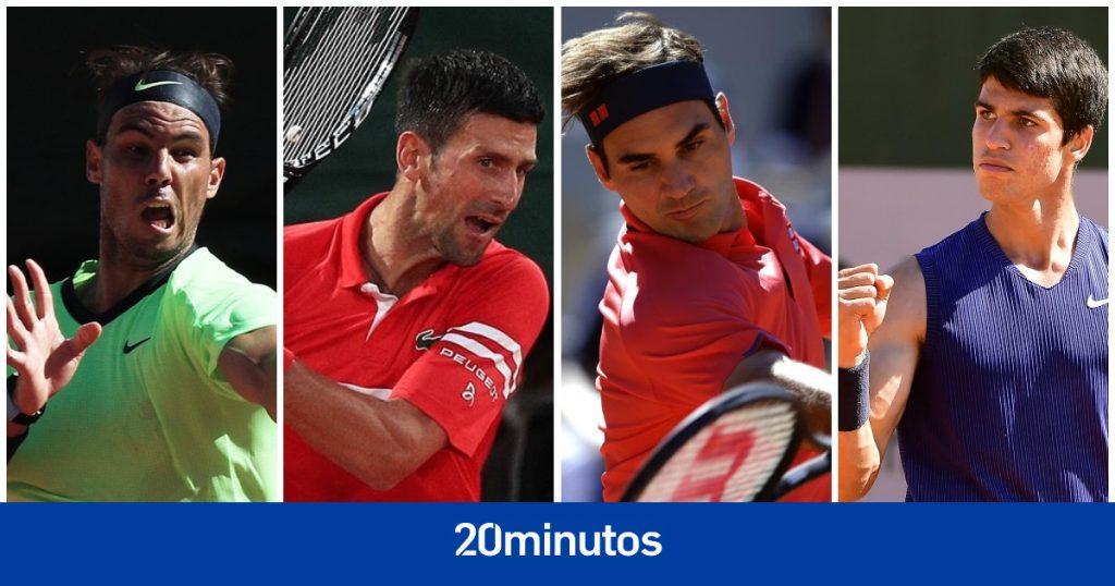 Sigue en directo el gran día de Roland Garros: Nadal, Djokovic, Federer, Alcaraz ...