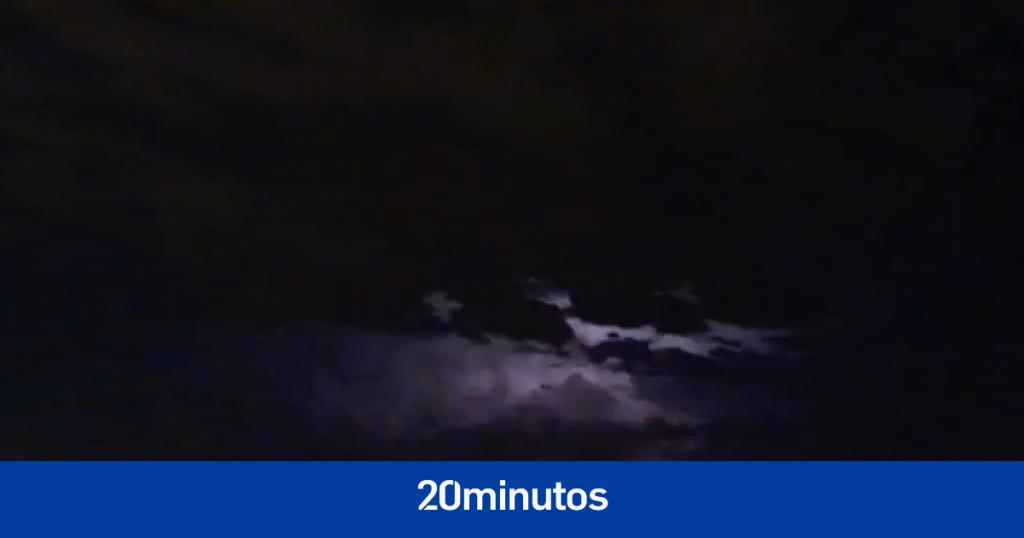 Una impresionante tormenta eléctrica sacude los cielos de Madrid