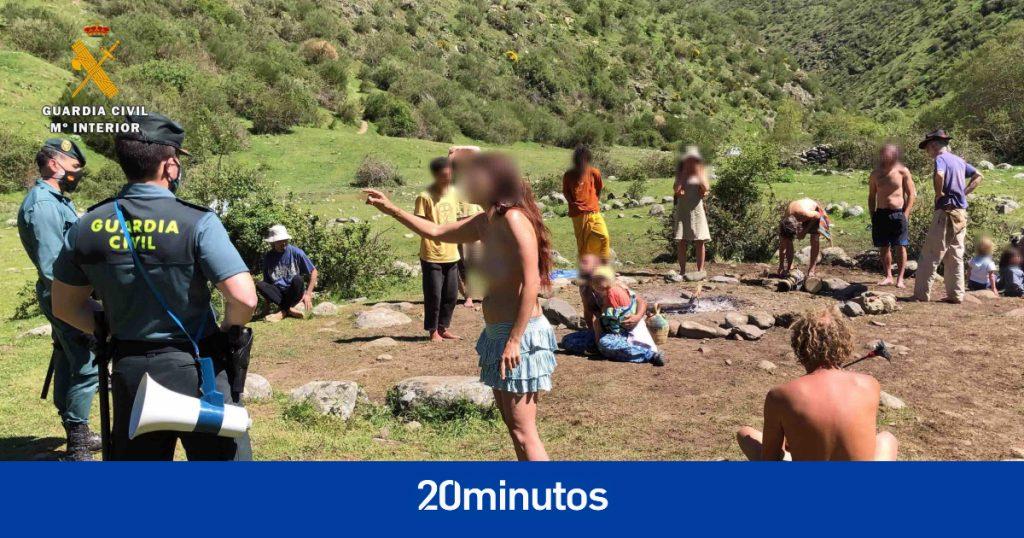 Varias decenas de multas para la 'Familia Arcoíris', miembros de una macrocampada 'hippie' en La Rioja