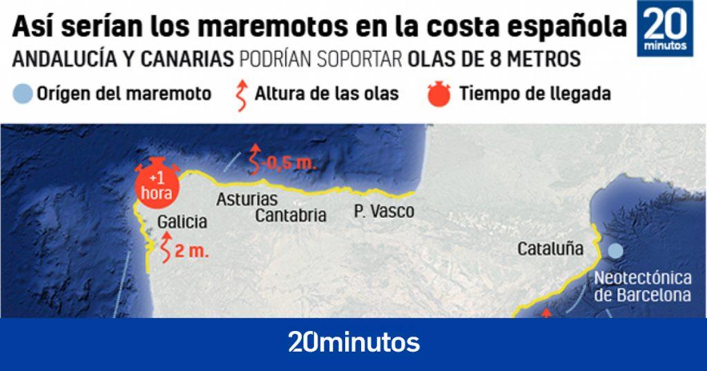 sería el maremoto más fuerte de la costa española y el tiempo de reacción